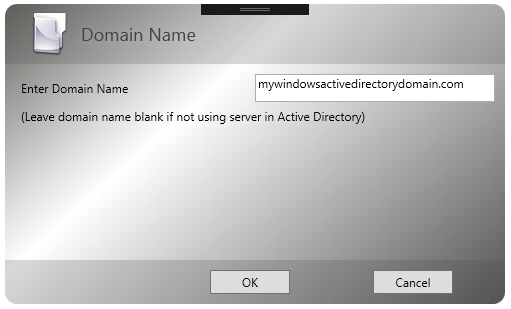 Windows Domain Name for Active Directory