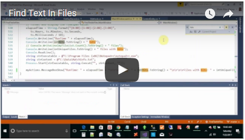 Find Text In Files Overview Video